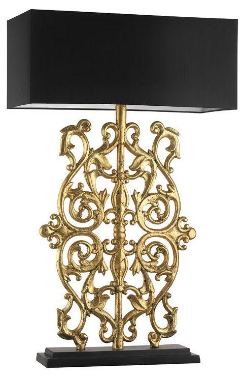 designer antiqued gold leaf baroque lamp sharing luxury designer home decor and ideas for chandelier table