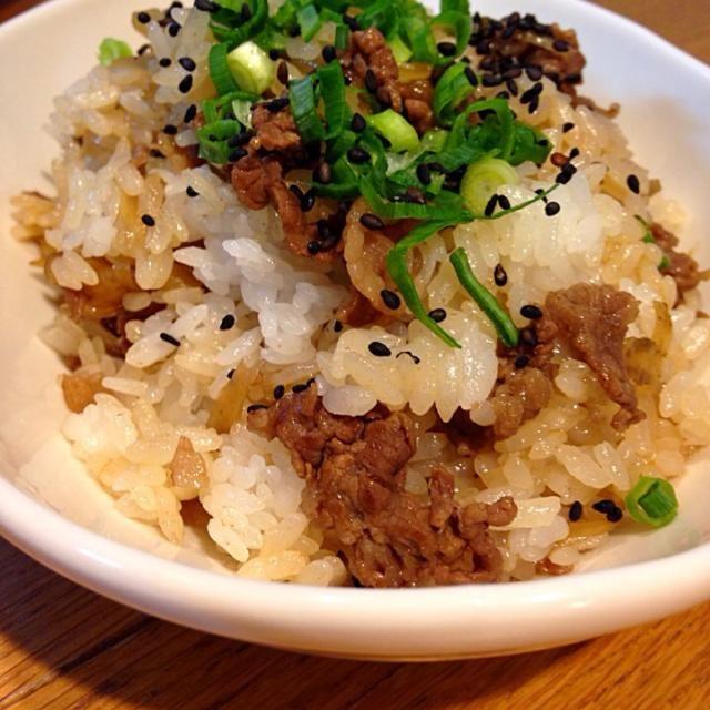 美味しかったです♥️ おかずが少なくても大丈夫‼︎ - 82件のもぐもぐ - さくちんさんの料理 牛肉とゴボウの混ぜご飯プレート by mayutaku