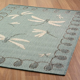 Beautiful dragonfly rug!  This is one of my fav colors blue/green shade.