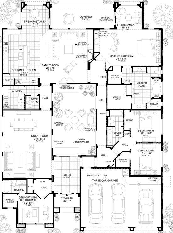 57 best floorplan w courtyard images on pinterest arquitetura