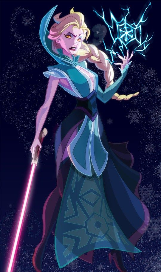 Elsa in Star Wars outfit