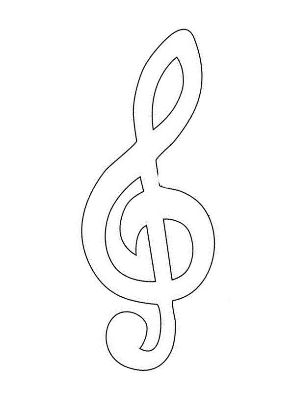 распечатать изображение скрипичного ключа оно ещё было