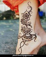 This STYLISH MEHNDI PICTORIAL is very unique in its design & idea. Unique Mehndi designs are always eyecatching.Try this alluring mehndi design on your special occasions.