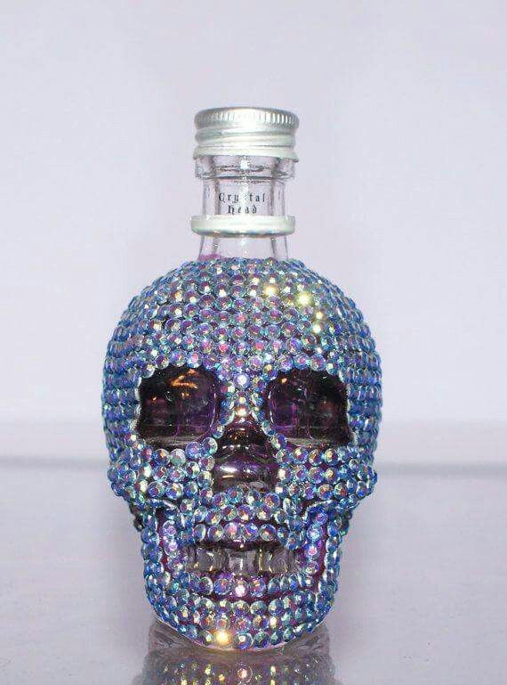 Crystal skull mini bottle