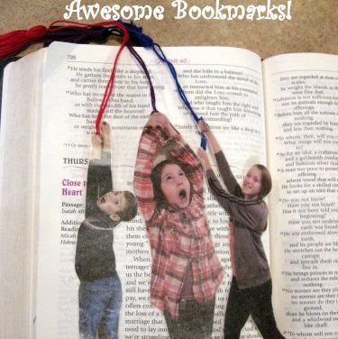 DIY gifts!! Photo bookmarks of your kids for family members or you could even do some funky cartoon characters (or crazy pictures of yourself lol) for kids bookmarks :):)