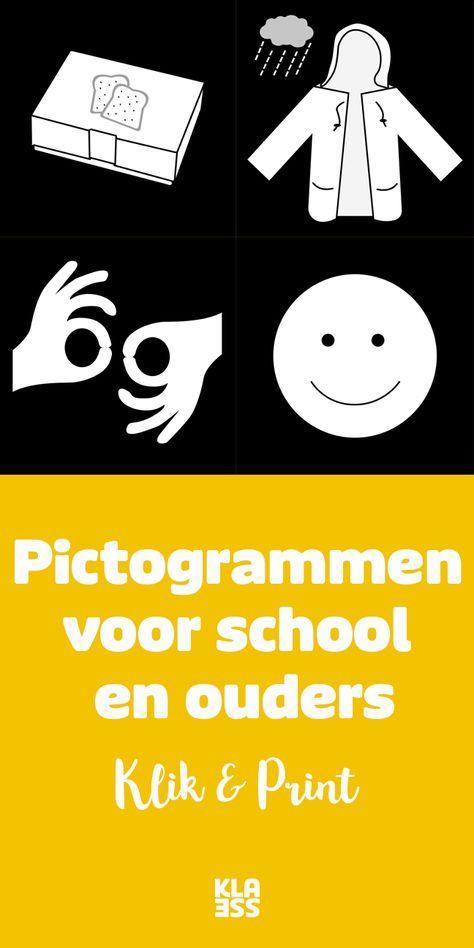 Pictogrammen maken je boodschap extra duidelijk voor leerlingen en ouders. Download een meertalig woordenboekje en 25 basispictogrammen. En check de voor- en nadelen van beeldcommunicatie. #onderwijs #download #picto #pictogrammen #communicatie