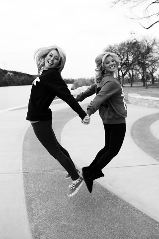 Best friend picture! Trying to make a heart(: