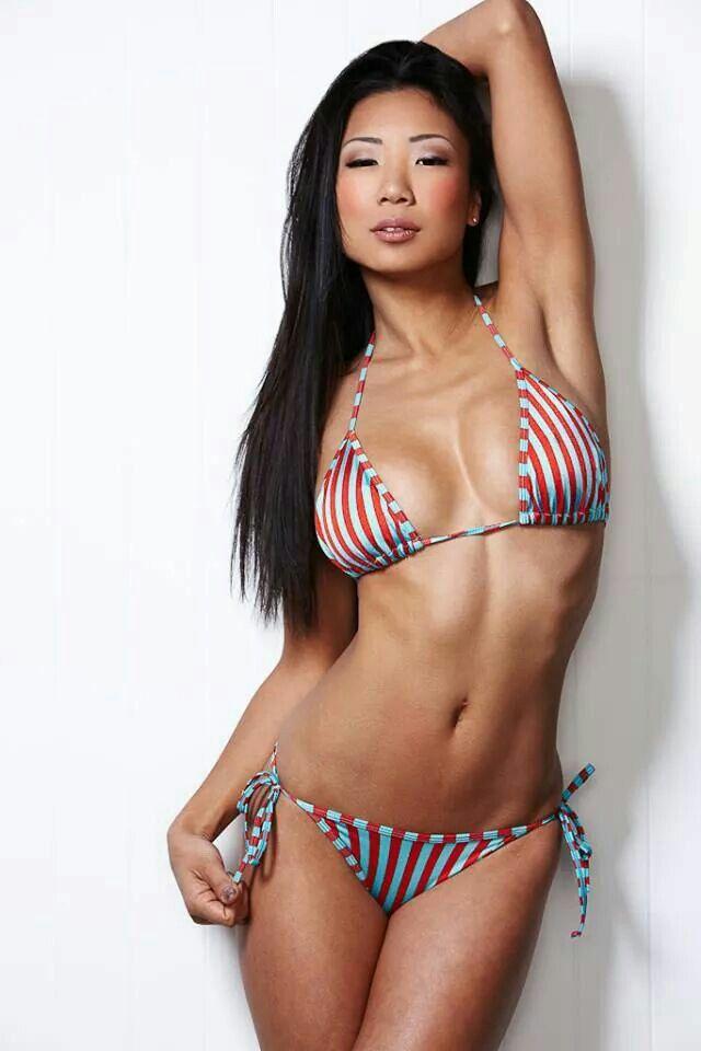 Lovely japanese model in black bikini similar