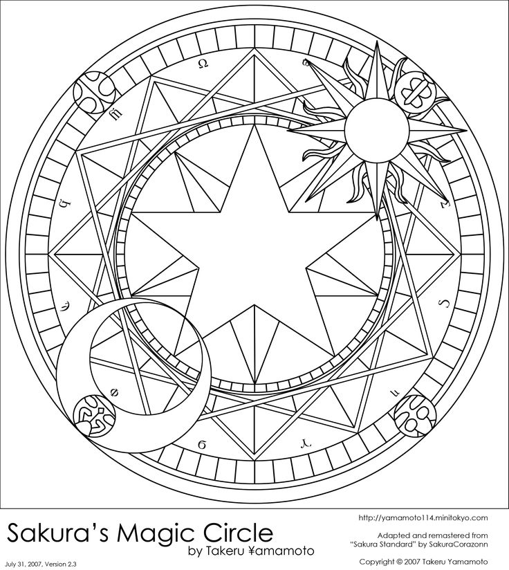 Sakura's Magic Circle by ~yamamoto114 on deviantART