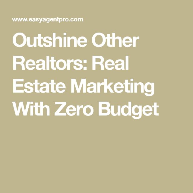 real estate marketing zero real estates budget other blog forward