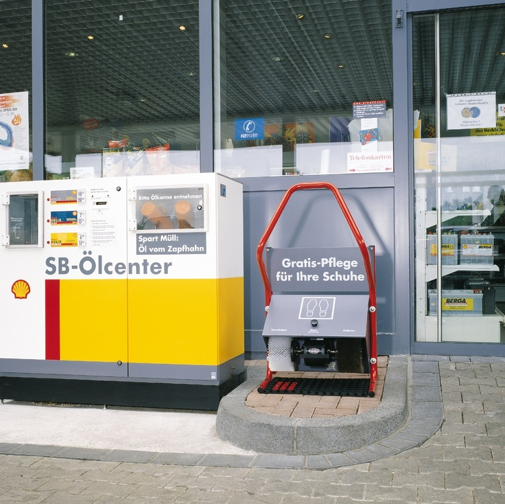 Maszyny do czyszczenia butów są na każdej stacji