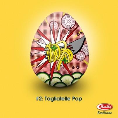 Come gustare al meglio un'opera d'arte come le tagliatelle? Noi vi proponiamo una ricetta POP: zucchine freschissime al sapore di primavera e un goccio di aceto balsamico!
