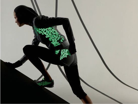 Stella McCartney Adidas Glow in the Dark Runners Outfit