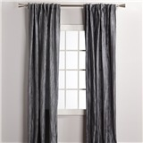 """Set of 2 Crinkled Curtains - Length 84"""""""