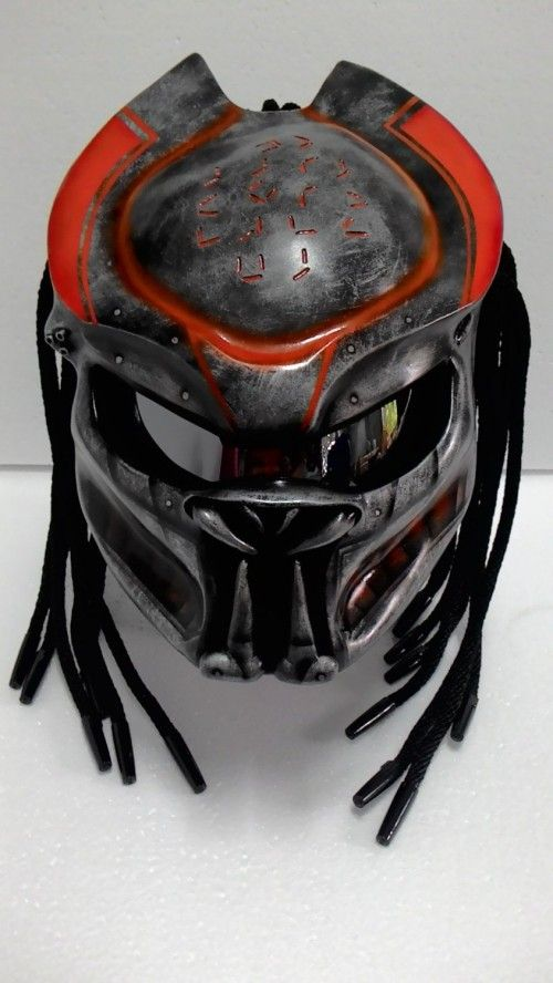 Color : As picture We use full helmet DOT as its base and Carbon great Fiber for Predator parts. Helmet come with Red Tri-Laser (LED) with on-off switch. Size : L Other size please feel free...@ artfire