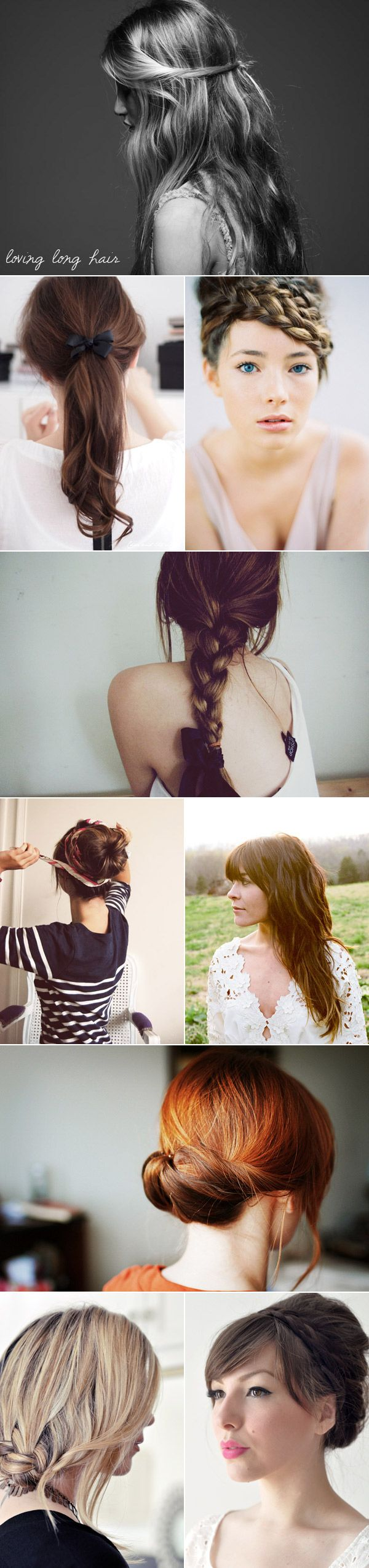 Long Curly Hair Styles, Some With Flowers