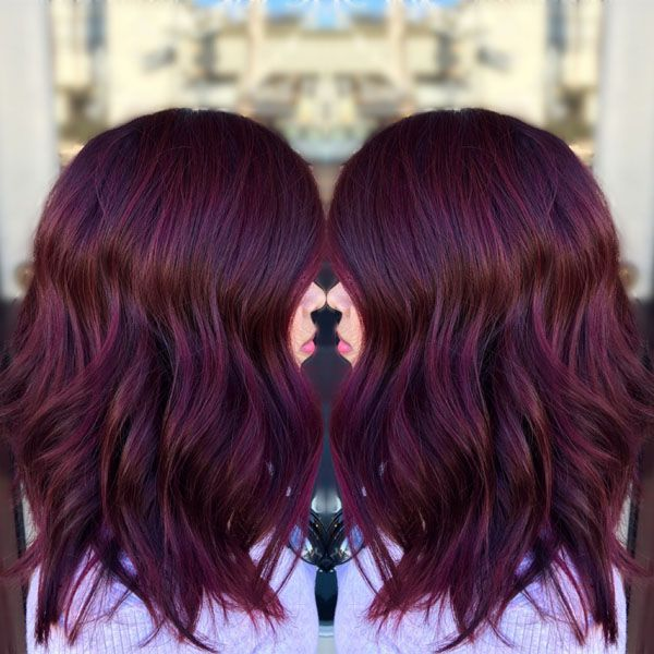 Still in love with shades of plum? Good, because this top trend isn't going anywhere. The latest inspo is courtesy of California-based colorist Elena Rosas (@hair.by.elenarosas) and it got more than 22k likes when we posted it to our Instagram! Dying to know how to recreate this luscious merlot? Find out how Elena did it below. … Continued