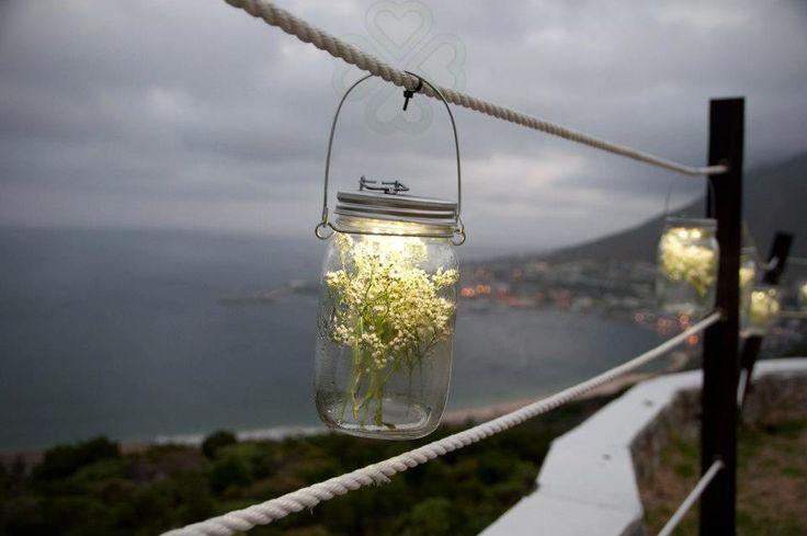 Solar lanterns to outline the beautiful horizon at Blue Horizon Estate.
