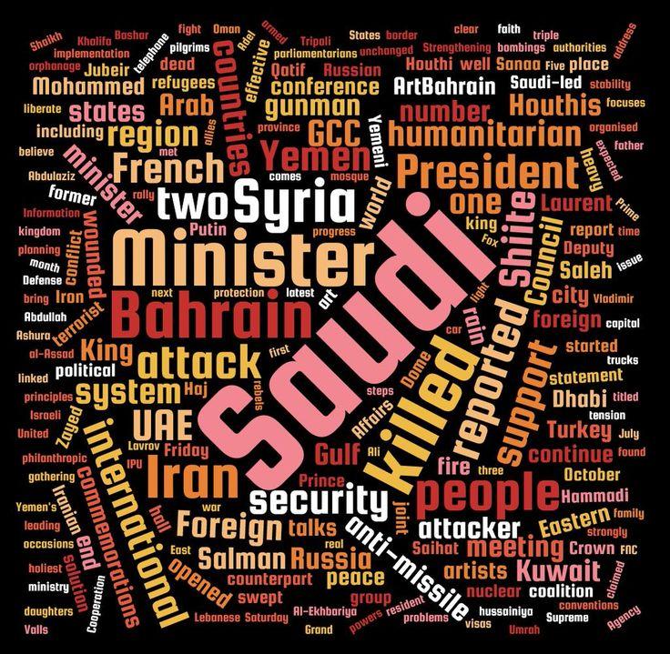 Time for a #wordcloud! Last week's #news from the #Arabian #Gulf! #information #Saudi #Kuwait #Bahrain #Oman #UAE