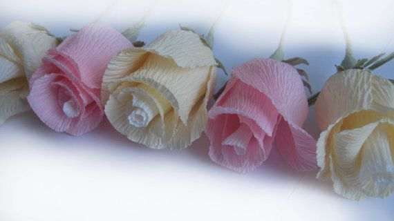 LIGHT paper roses wedding table decoration cake by moniaflowers