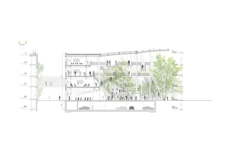 Gallery - Sou Fujimoto-Led Team Selected to Design Ecole Polytechnique Learning Centre in Paris - 13
