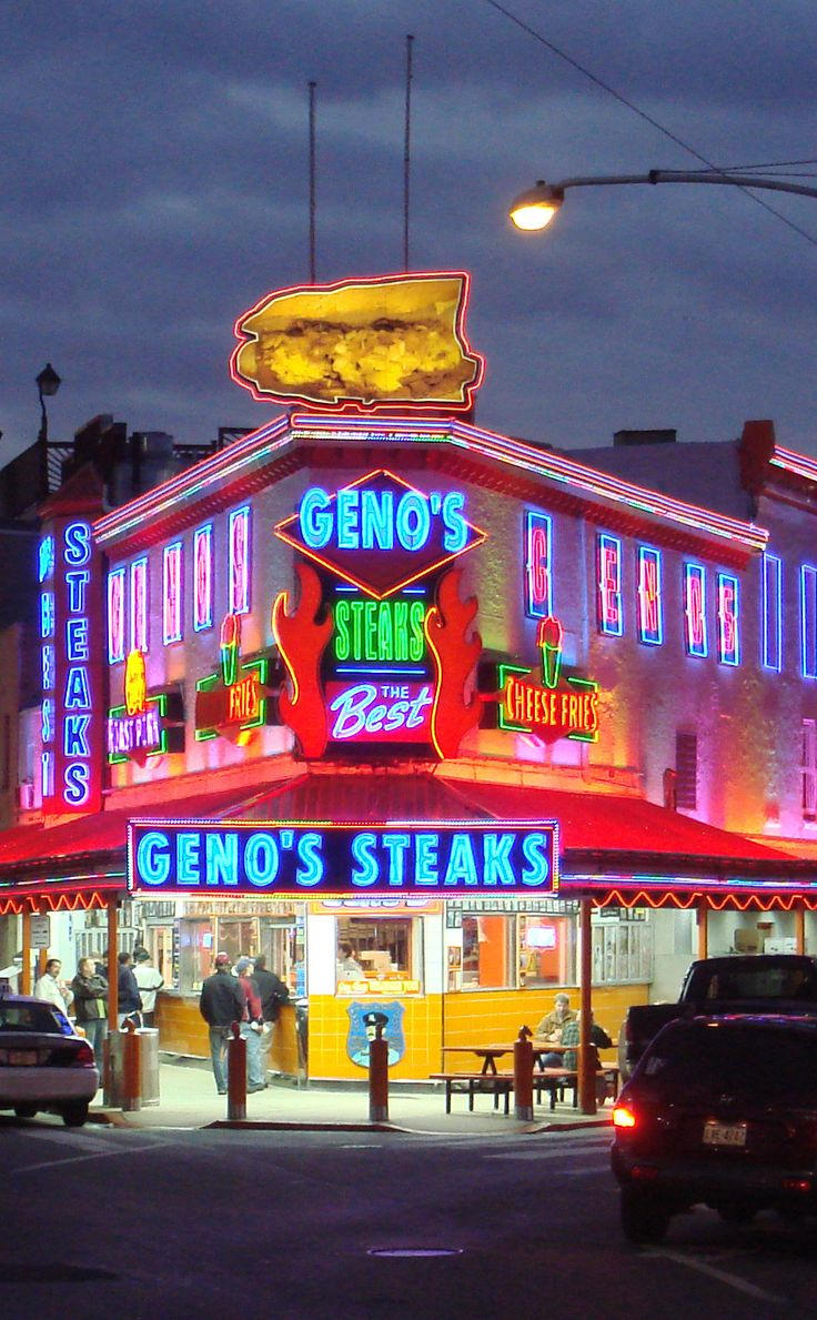 Geno's Steaks | Travel | Vacation Ideas | Road Trip | Places to Visit | Philadelphia | PA | Hot Dog Joint | Sandwich Shop / Deli | Roadside Attraction | Offbeat Attraction | American Food | Local Dining