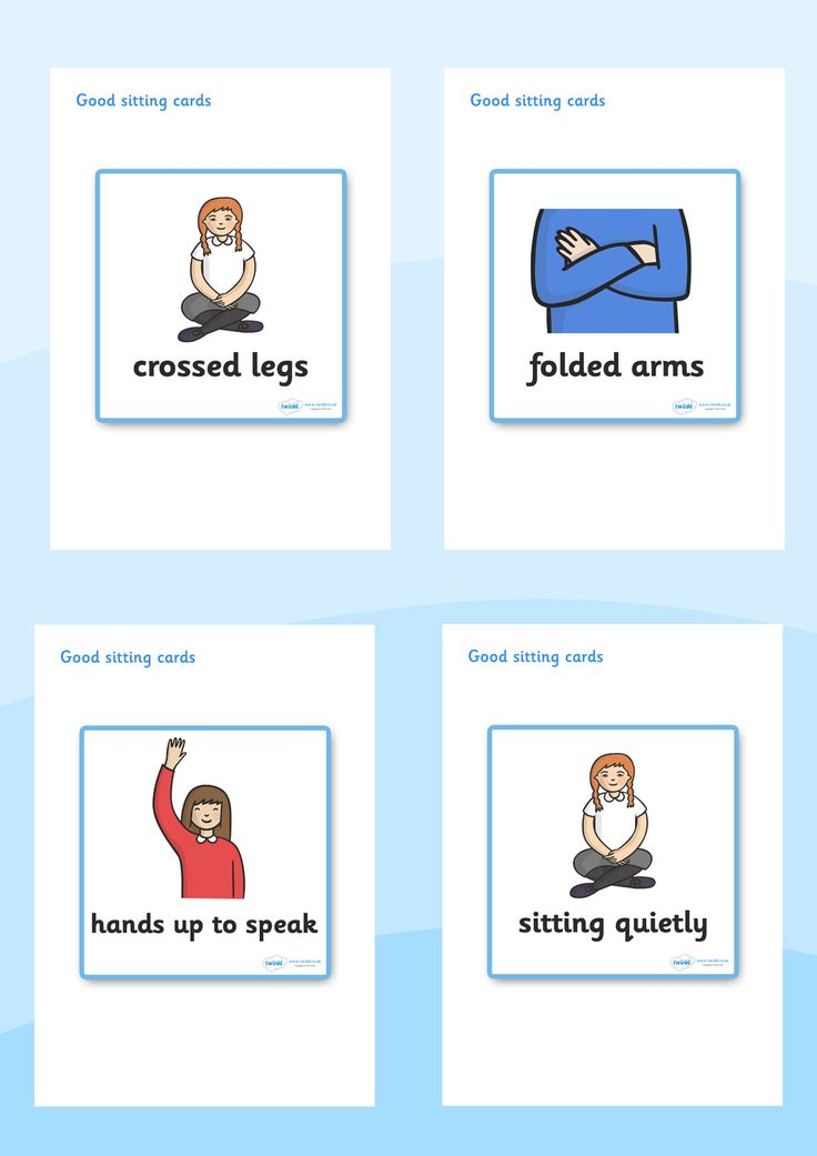 Twinkl Resources >> Good Sitting Cards >> Printable resources for Primary, EYFS, KS1 and SEN. Thousands of classroom displays and teaching aids! Manners, Sitting, Cards, Posters, Behaviour
