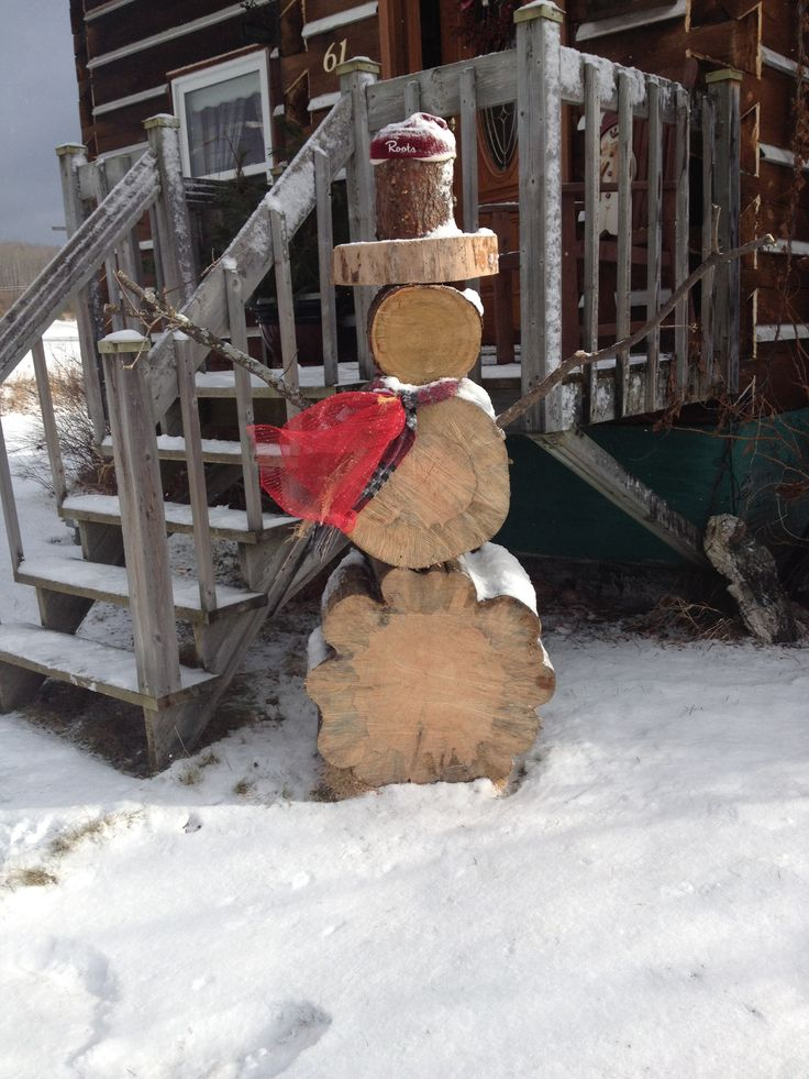 Tree Trunk Snowman Karla Pruitt Pruitt Olney Christmas