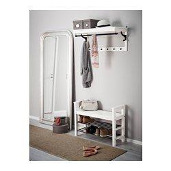 "HEMNES Bench with shoe storage, white - 33 1/2x12 5/8 "" - IKEA"