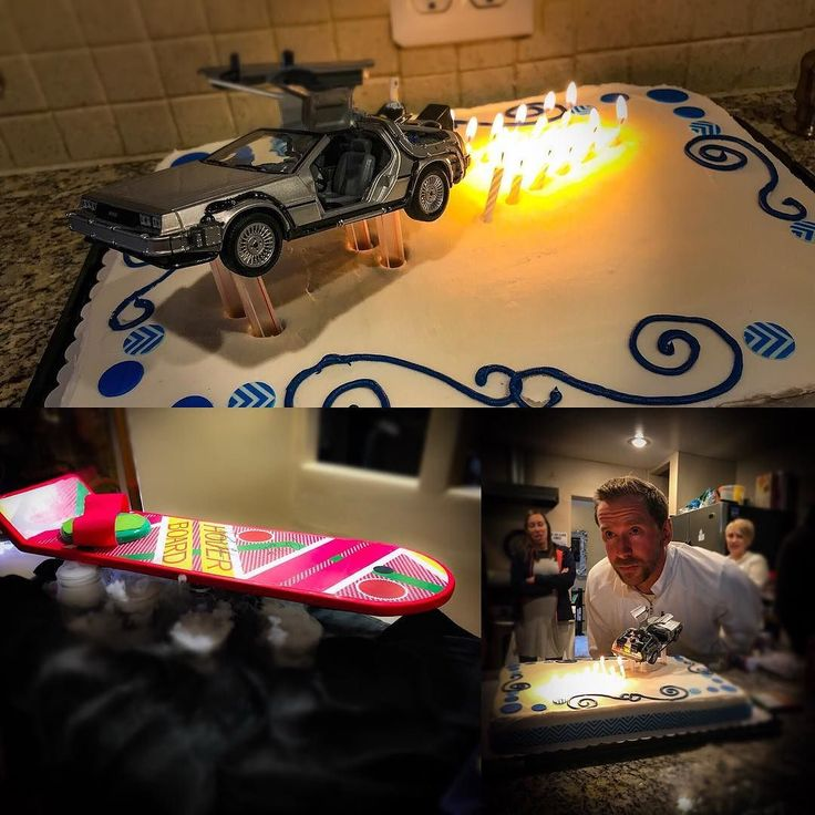 @shamy777 threw Todd Michael Thompson an awesome surprise birthday party with a Back to the Future theme - she even made the hoverboard herself and got Biff to sign it while he was here @slccomic-con. Seriously Shamy it was great!