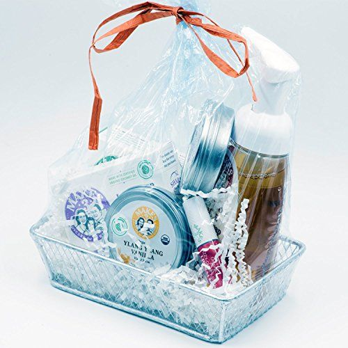 Makes 3 Organic Gift Basket The Perfect Present For Family  Friends  Organic Soap  Balm * Click image for more details.