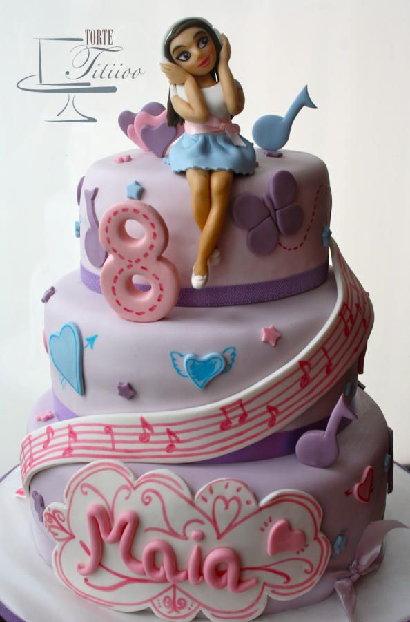 Girl on music cake
