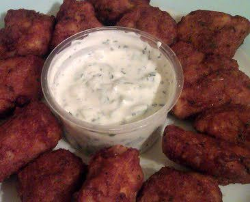 Vickys Chicken Pakoras with a cool Raita Dip, Gluten, Dairy, Egg & Soy-Free recipe snapshot