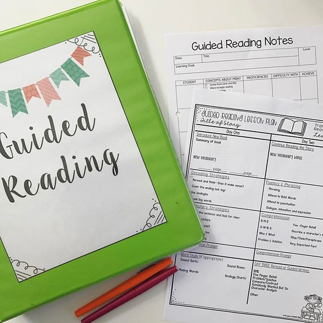My Guided Reading folder is finally ready!! I absolutely L O V E the planning sheets from @justaprimarygirl 💕 #guidedreading #letsdothis    #Regram via @misstessclassroom