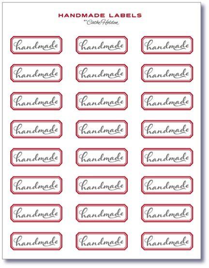 Printable Handmade Labels