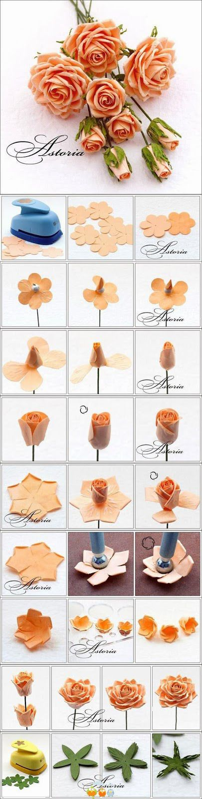 Inspirational Monday – Do it yourself (diy) Flower series – DIY Flower from small flower to full bloom | mypapercrafting