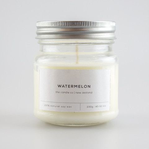 Watermelon Soy Candle - The Candle Co