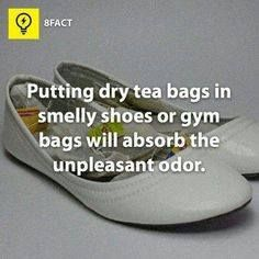 Tips on how to remove shoe odor.