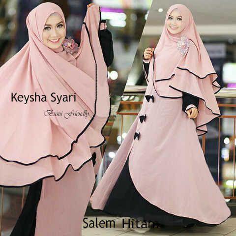 Gamis Syar'i Modern KEYSHA SYARI SALEM - http://warongmuslim.com/gamis-syari/gamis-syari-modern-keysha-syari-salem/