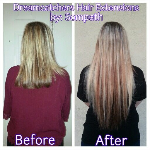 #beforeandafter Model: miss @olivianc #dreamcatchers #extensions #longhair #longhairdontcare #fromshorttolonghair #besthairextensions #dcdreamteam #brownhair #blondehair #dc4 #dc5 #dc9 #dc14 #razorblend #20inchhair
