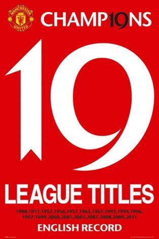 Manchester United 19 Titles - plakat - 61x91,5 cm   Gdzie kupić? www.eplakaty.pl