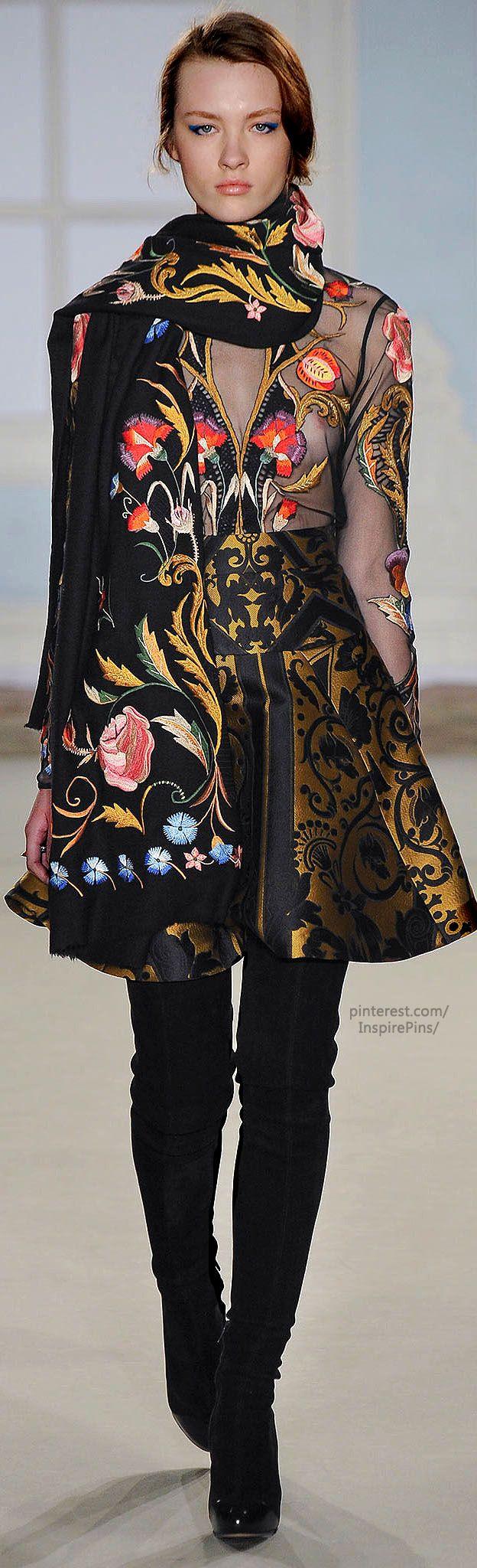 Russian floral pattern - Fall 2014 Ready-to-Wear Temperley London