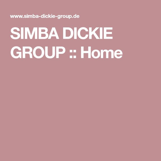 SIMBA DICKIE GROUP :: Home