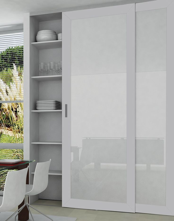 White backpainted glass inserts and our AF007 profile in aluminum finish combine to provide a sleek & 9 best Sliding Doors images on Pinterest | Sliding doors Sliding ...