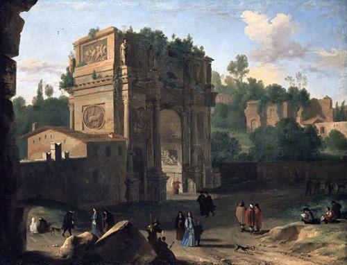 The Arch of Constantine by Artist: Herman Van Swanevelt, circa 1645