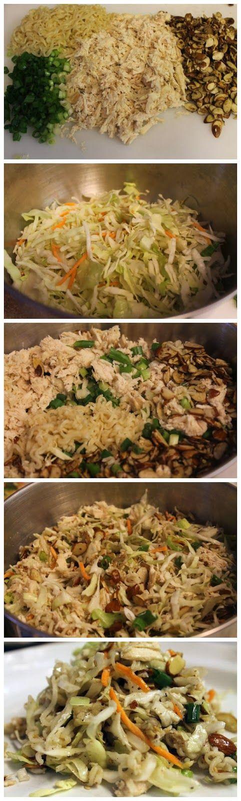 Oriental Chicken Salad Recipe. **Use Shirtaki noodle instead of Ramen.