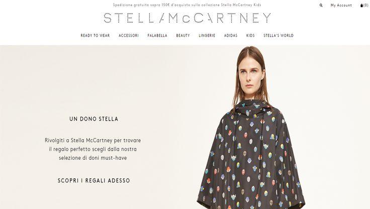 THE WORST! CTA poco accattivante e un copy confuso nel banner dell'HP di Stella McCartney. Quando punteggiatura e localizzazione decente fanno la differenza...