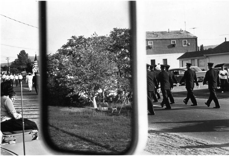 objects in mirror are farther from reality than they seem..... Stony Point, New York, 1966