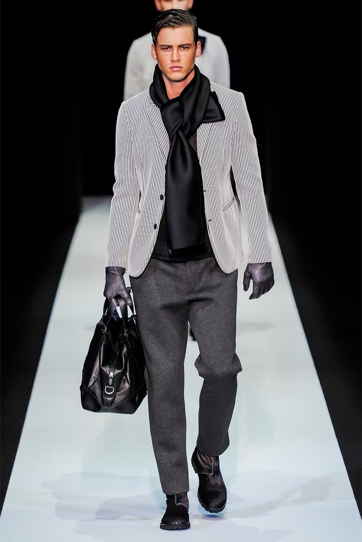Emporio Armani Milano Moda Uomo Autunno Inverno 2013-14: