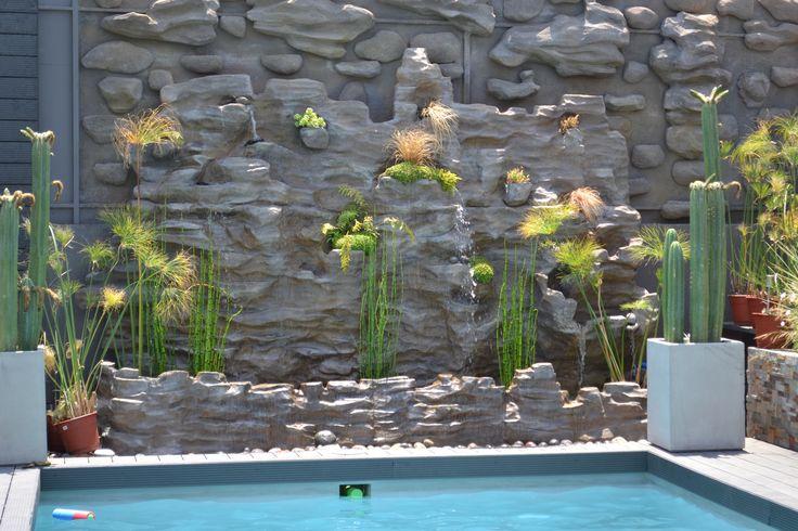 Cascada imitaci n piedra fabricada por for Cascadas artificiales de piedra